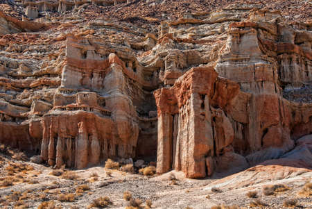 red rock: Red rock formations in Red Rock Canyon California