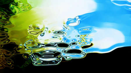 mesmerize: Abstract fluid forms flowing. High resolution illustration 10855.