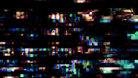 Glitch random digital signal malfunction. High resolution illustration 10912 from a series of abstract future tech imagery.