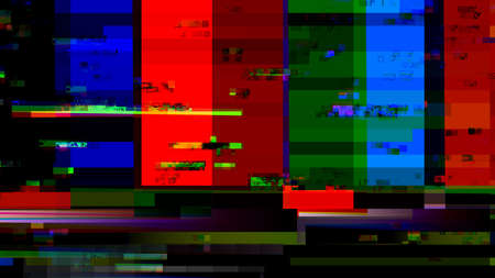 malfunction: Glitch random digital signal malfunction. High resolution illustration 10913 from a series of abstract future tech imagery. Stock Photo