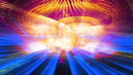 Conceptual futuristic technology digital light abstraction. High resolution illustration 10930. Imagens