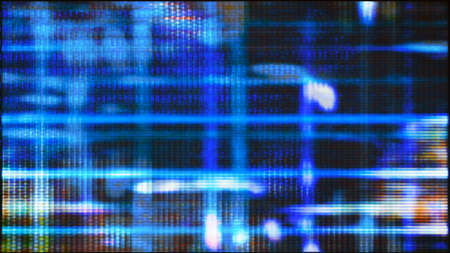 Futuristic, video screen display pixels creating an abstract pattern. From a series of abstract future tech imagery.