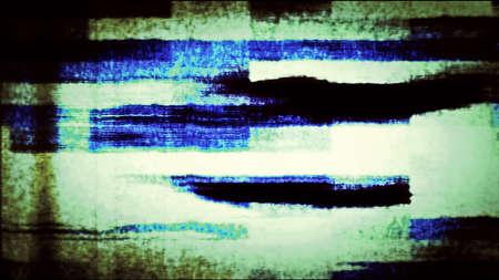 Moniteur TV avec suppression de données créant des formulaires numériques abstraits. Banque d'images - 83407225
