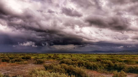 Storm over a Field Stock Photo