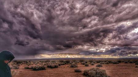 A Man in a Desert Storm