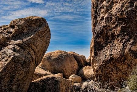 Sensual boulders on a California desert floor.