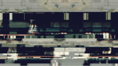 Data glitch random digital signal malfunction. High resolution illustration 11087 from a series of abstract futuristic technology.