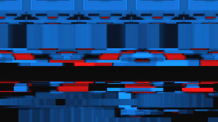 Data glitch random digital signal malfunction. High resolution illustration 11089 from a series of abstract futuristic technology.