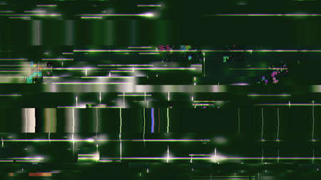 Data glitch random digital signal malfunction. High resolution illustration 11096 from a series of abstract futuristic technology. Stock Photo