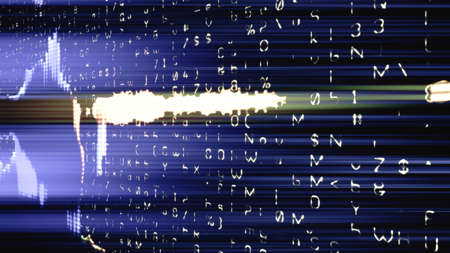 Data glitch random digital signal malfunction. High resolution illustration 11098 from a series of abstract futuristic technology.