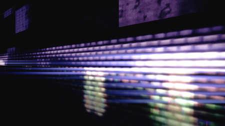 Data glitch random digital signal malfunction. High resolution illustration 11105 from a series of abstract futuristic technology.