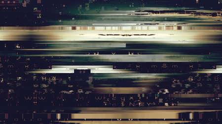 Data glitch random digital signal malfunction. High resolution illustration 11094 from a series of abstract futuristic technology.
