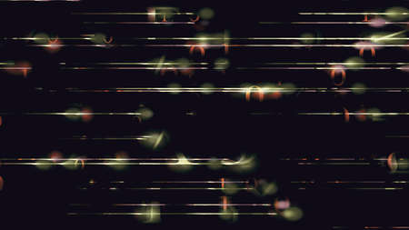 Futuristic light blips and grid lines on a black background. High resolution illustration 11108 from a series of abstract futuristic technology.