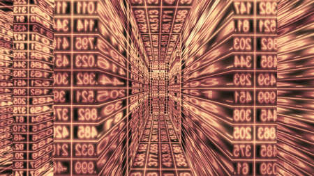 Futuristic digital technology data ticker abstraction. High resolution illustration 11125 from a series of abstract futuristic technology. Stock Photo