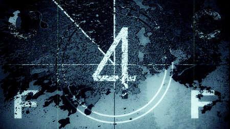 Film Leader Countdown Frame Four. Illustration 10885.
