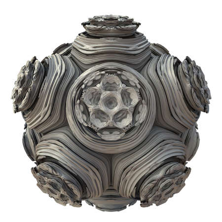 Abstract fractal digital art design 11141 on a white background. Zdjęcie Seryjne