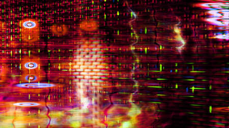 Futuristic, video screen display pixels 10531 from a series of abstract tech imagery. Stock Photo