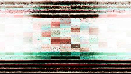 Abstract technology screen display with digital data blocks. Zdjęcie Seryjne - 115279011