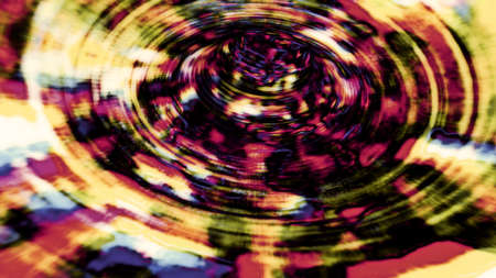 Abstract radial shapes and forms on a black background. Stok Fotoğraf