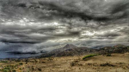 Mojave Desert Rain Storm