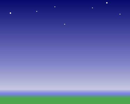 nighttime: nighttime horizon