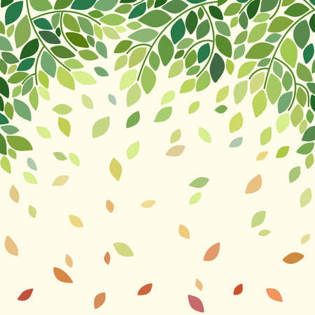 falling leaves: Illustration with falling leaves