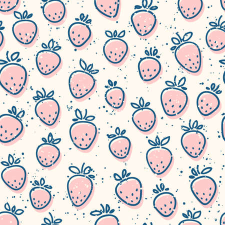 simple background: Seamless strawberry pattern. Simple natural background