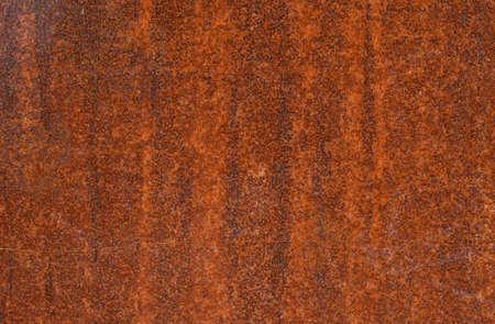 Rostige Metalloberfläche mit oranger Farbe, Hintergrundtextur.