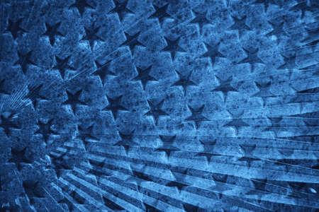 Muchas estrellitas sobre fondo azul. Foto de archivo