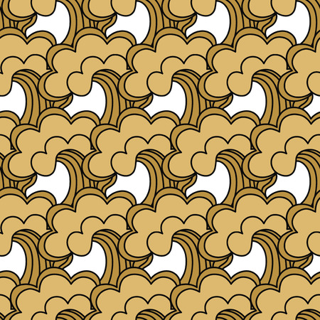 Traditional oriental seamless pattern with ocean waves, foam, splashes. Japanese seamless vector ornaments with traditional motives.