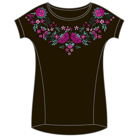 Vector design for collar t-shirts and blouses.