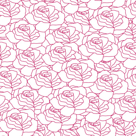 Seamless pattern with beautiful roses. Romantic background. Vector illustration. Illustration