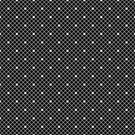 White dotted veil seamless pattern on black background. Vector illustration. Ilustração