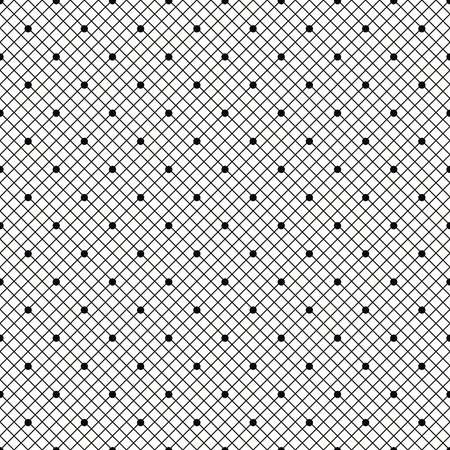 Black dotted veil seamless pattern on white background. Vector illustration.