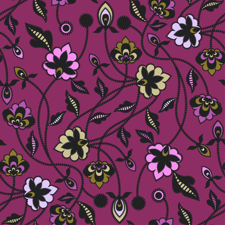 Seamless floral pattern background. Vector illustration.