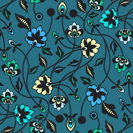 Seamless floral pattern background. Vector illustration.