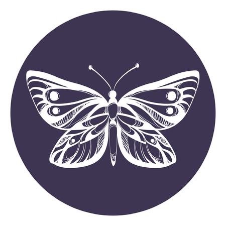 Beautiful icon butterfly vector illustration.