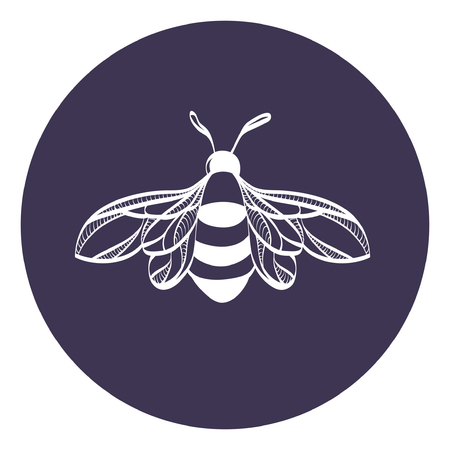 Beautiful icon bumblebee vector illustration. Bee icon vector. Vettoriali