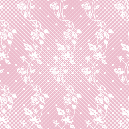 Seamless lace floral pattern. Infinitely wallpaper, decoration for your design, lingerie and jewelry. Your invitation cards, wallpaper, and more.  イラスト・ベクター素材