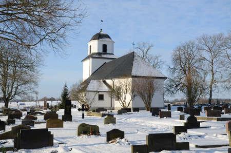 Church in winter in Sweden Stock Photo - 17044818