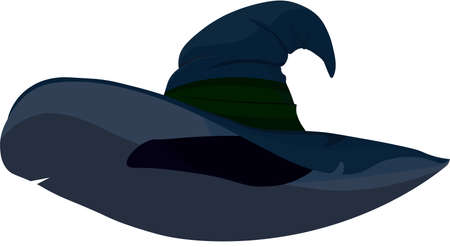 Witch hat for a halloween costume on a white background. Ilustrace