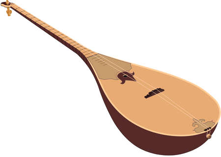 vector illustration design of hand-drawn wooden dombra Reklamní fotografie - 104452247