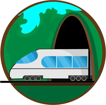 Travel by train. Vector illustration for your design Reklamní fotografie - 104731431