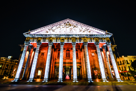 GUADALAJARA, JALISCO, MEXICO - NOVEMBER 22, 2017: theater degollado Editorial