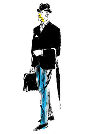 spring coat: Man Illustration