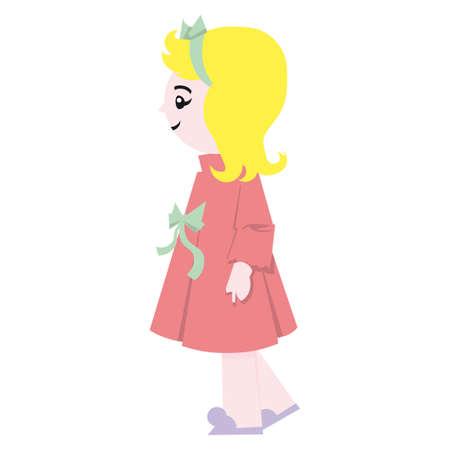 Doll retro vector illustration Stock Vector - 5846083