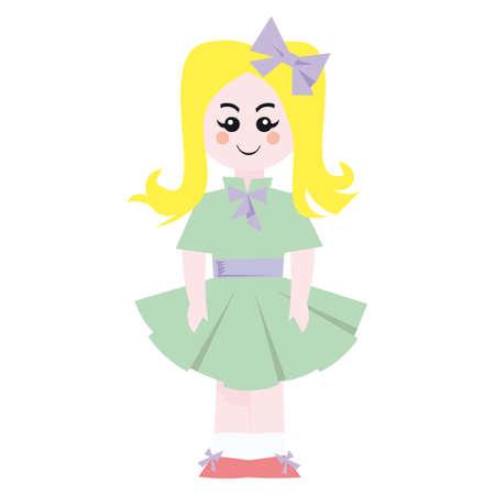 Doll retro vector illustration Stock Vector - 5846085
