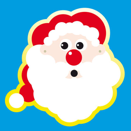 kepi: Santa Claus Doll Vector Illustration. Christmas Illustration