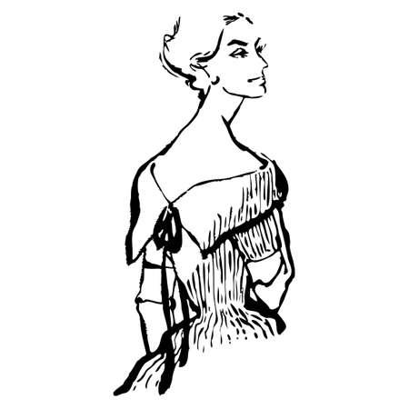 Woman vector illustration Ilustração