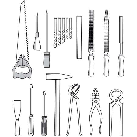 collection of tool vector Stock Vector - 5892425